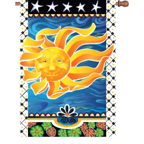 28 in. Celestial House Flag - Radiant Sun