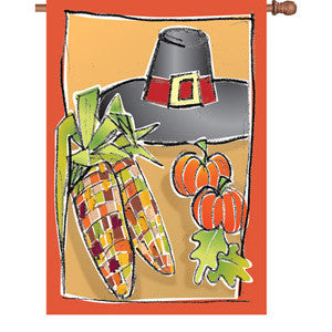 28 in. Harvest House Flag - First Thanksgiving