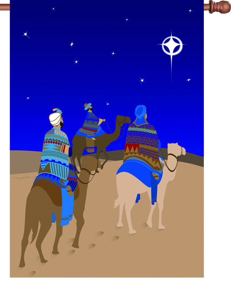 28 in. Christmas House Flag - Three Wisemen