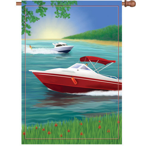 28 in. Pleasure Boating House Flag - Changes in Latitude