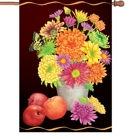 28 in. Autumn House Flag - Fall Floral
