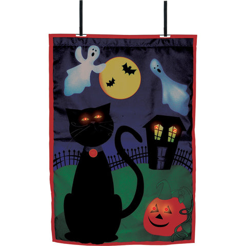 28 in. Halloween House Flag - Boo (Voice Controlled)