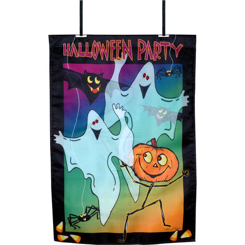 28 in. Halloween House Flag - Hall Party (Voice Controlled)