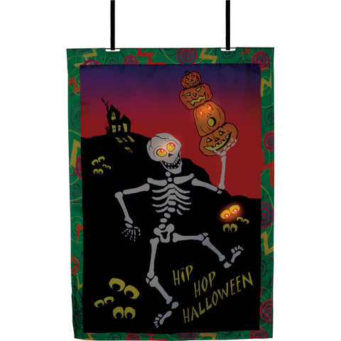 28 in. Halloween House Flag - Hip Hop Halloween (Voice Controlled)