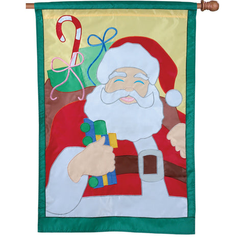 28 in. Christmas House Flag - Saint Nick