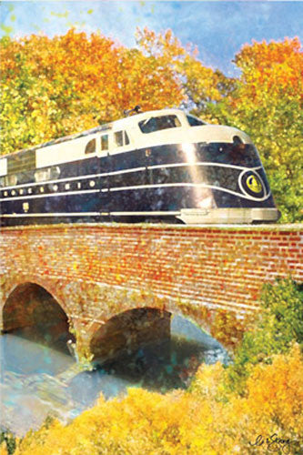 28 in. Fall House Flag - B & O Autumn Train