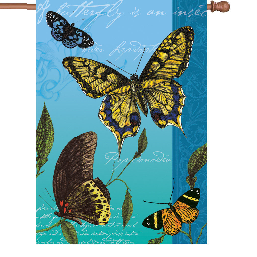 28 in. Butterfly House Flag  - Flights of Fancy