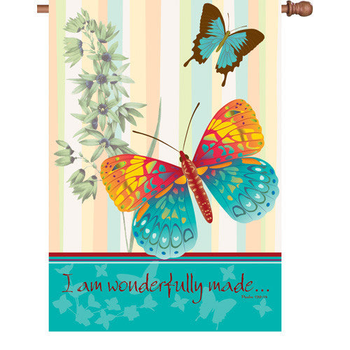 28 in. Butterfly House Flag - Wonderful Butterflies