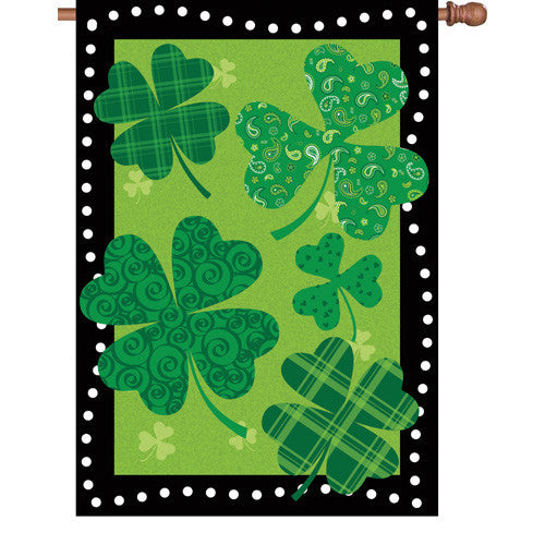 28 in. Saint Patrick's Day House Flag - Shamrock Summit