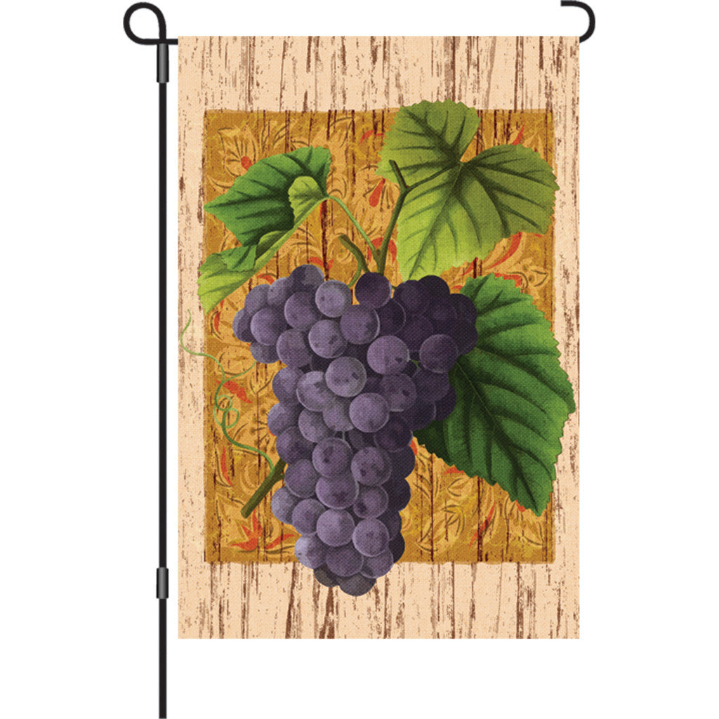 12 in. Vineyard Garden Flag - Grape Vine