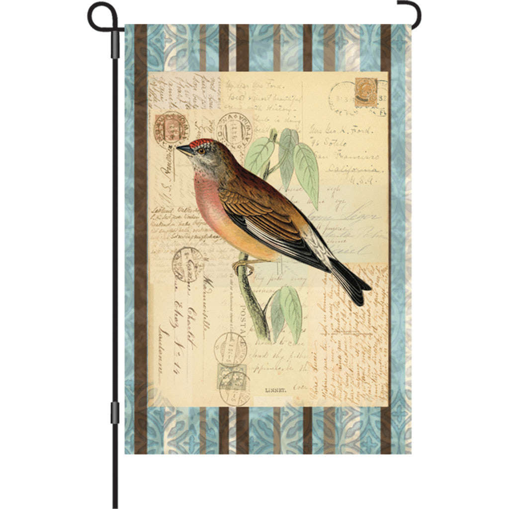 12 in. Vintage Garden Flag - Songbird