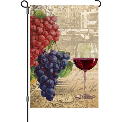 12 in. Vineyard Garden Flag - Vintage Wine