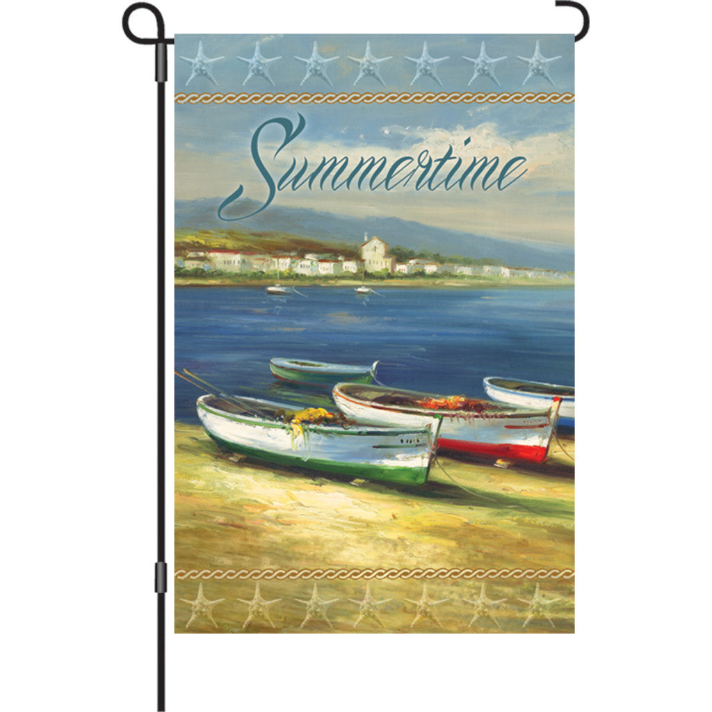12 in. Row Boats Garden Flag - Summertime Boats