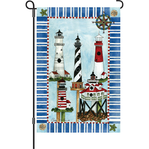 12 in. Lighthouse Garden Flag - Eastern Lights