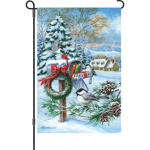 12 in. Christmas Garden Flag - Christmas Mail