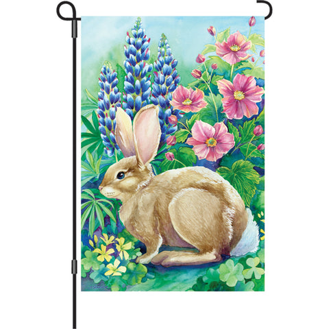 12 in. Bunny Garden Flag - Garden Rabbit