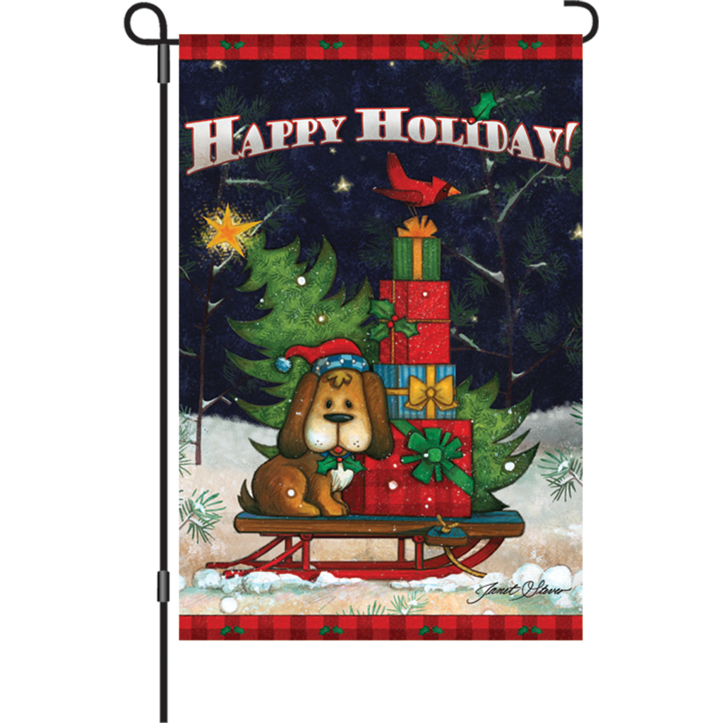 12 in. Christmas Dog Garden Flag - Doggone Happy Holiday