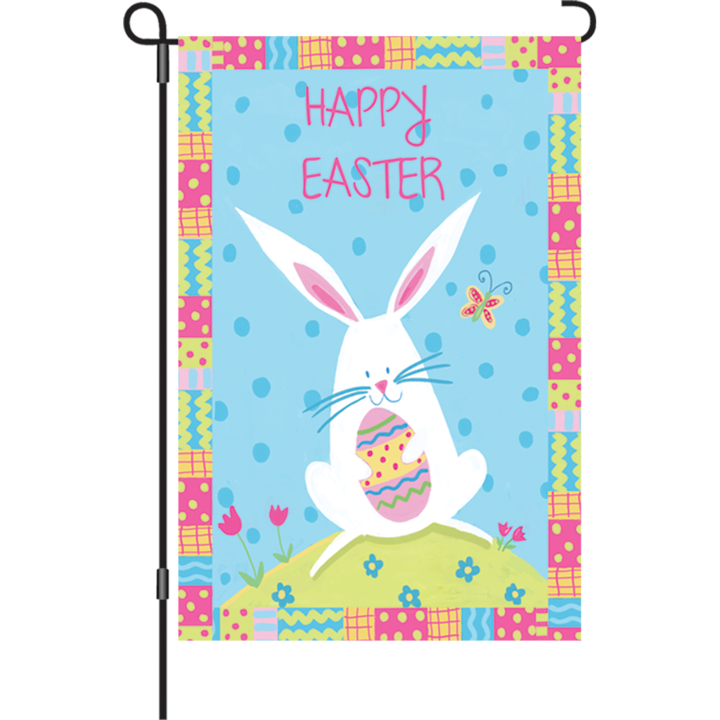 12 in. Easter Garden Flag - Bunny Easter