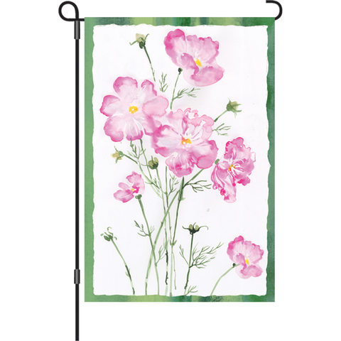 12 in. Cosmo Flower Garden Flag - Cosmos