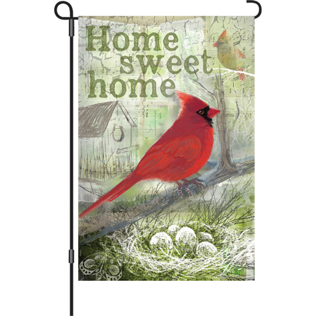 12 in. Vintage Garden Flag - Home Sweet Home