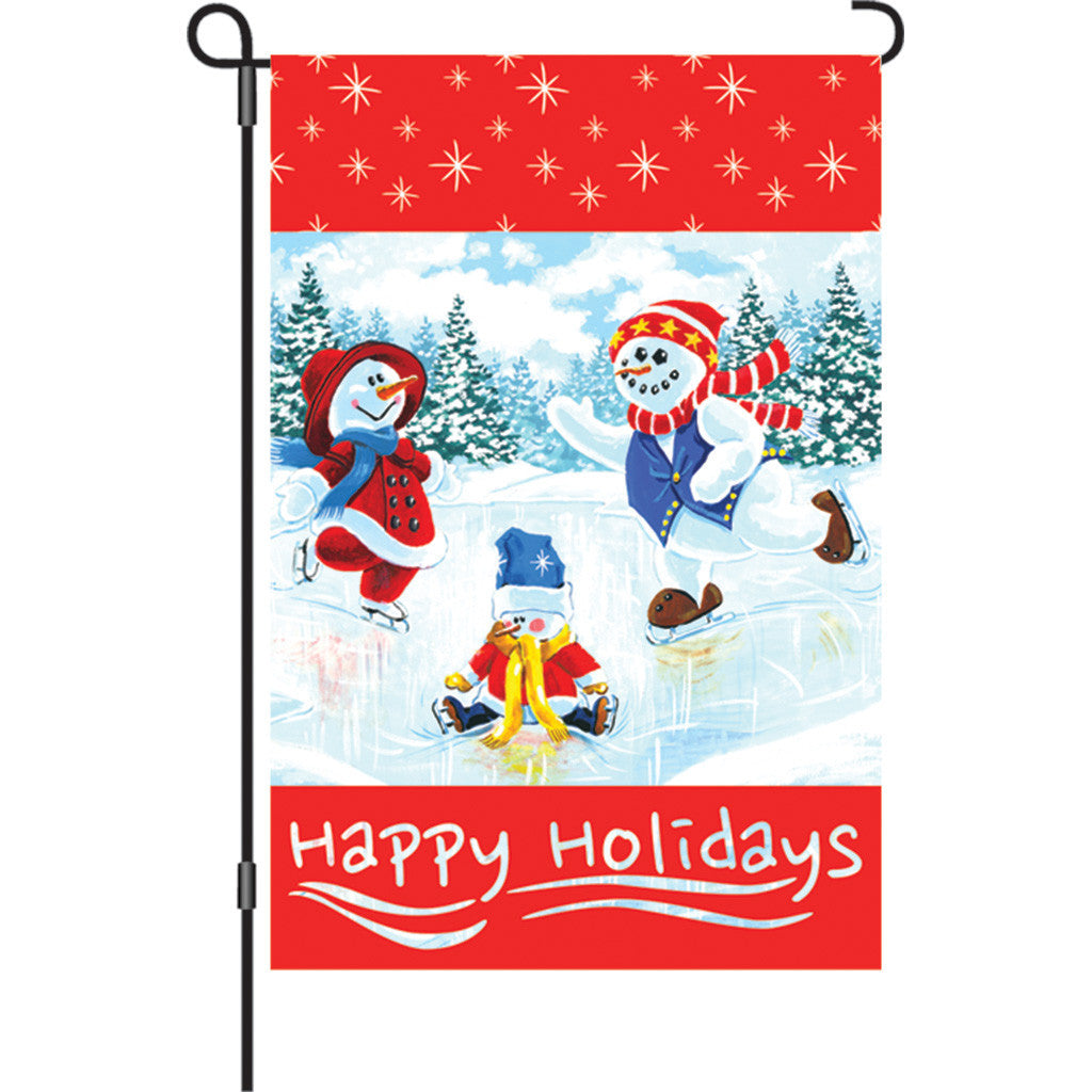 12 in. Christmas Garden Flag - Olympic Moment