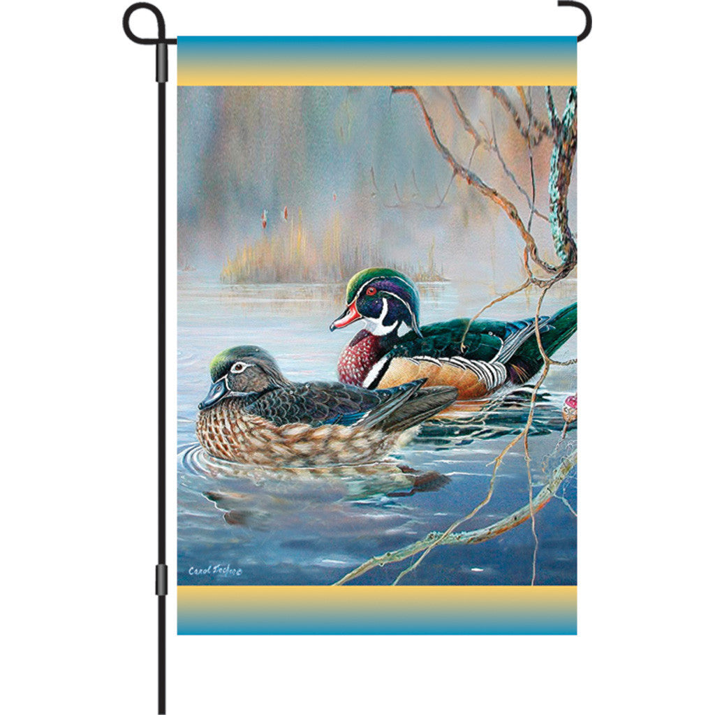 12 in. Wood Duck Bird Garden Flag - Woodies Bobber