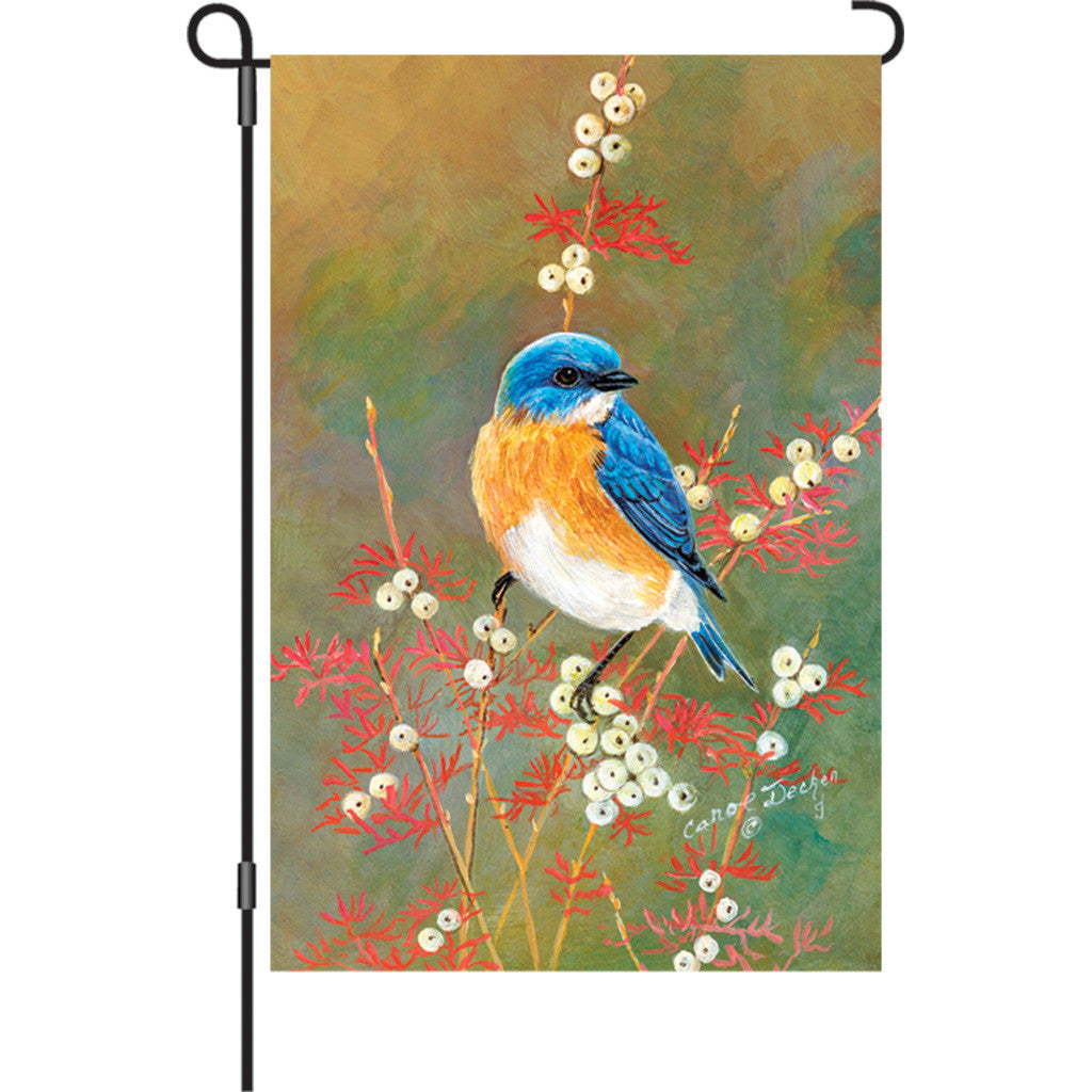 12 in. Bird Garden Flag - Bluebird Beauty
