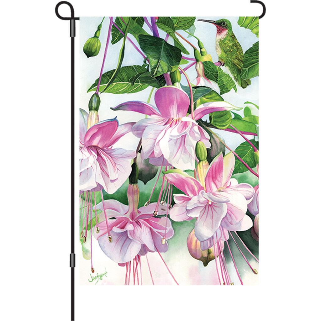 12 in. Spring Flowers Garden Flag - Window on the World