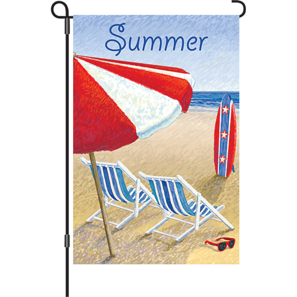 12 in. Memorial Day Garden Flag - Patriotic Beach Chair