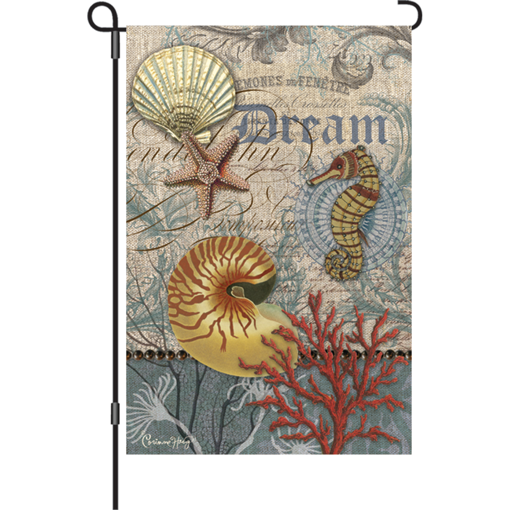 12 in. Vintage Garden Flag - Coastal Emphemera