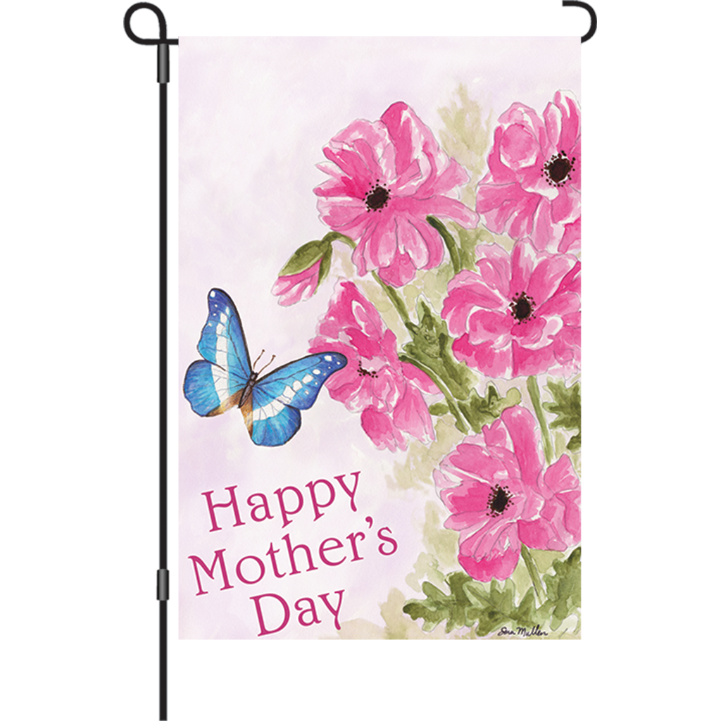12 in. Mother's Day Garden Flag - Mother's Day Bouquet