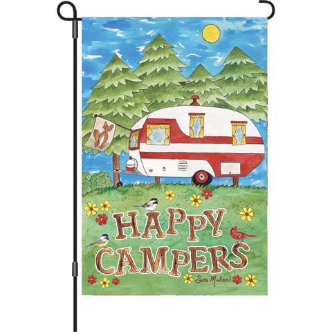 12 in. Camping Garden Flag - Camping Fun