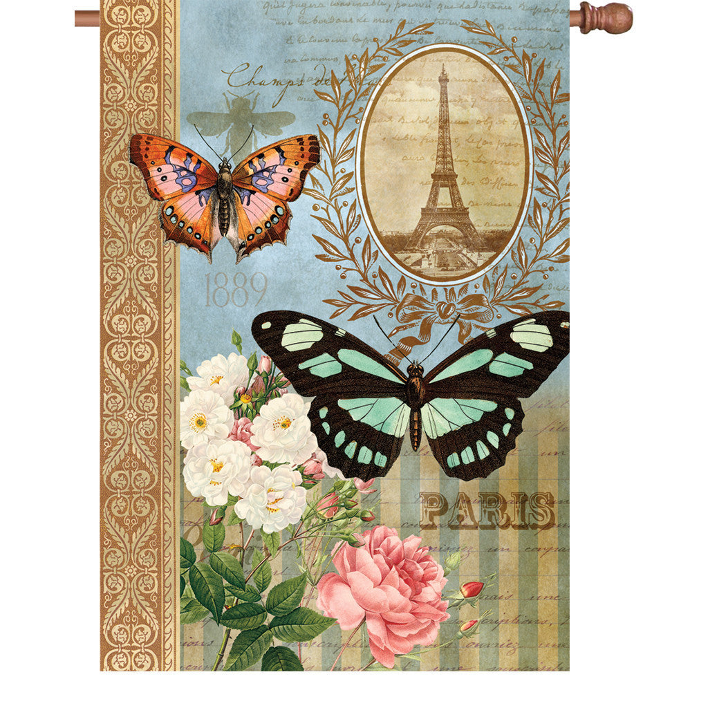 28 in. Heirloom House Flag - Unique Butterflies