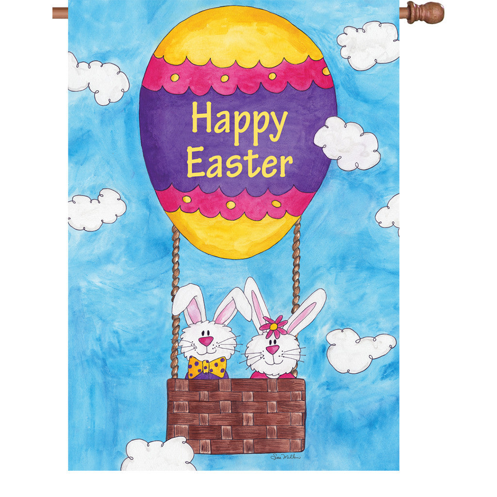 28 in. Easter House Flag - Easter is in the Air