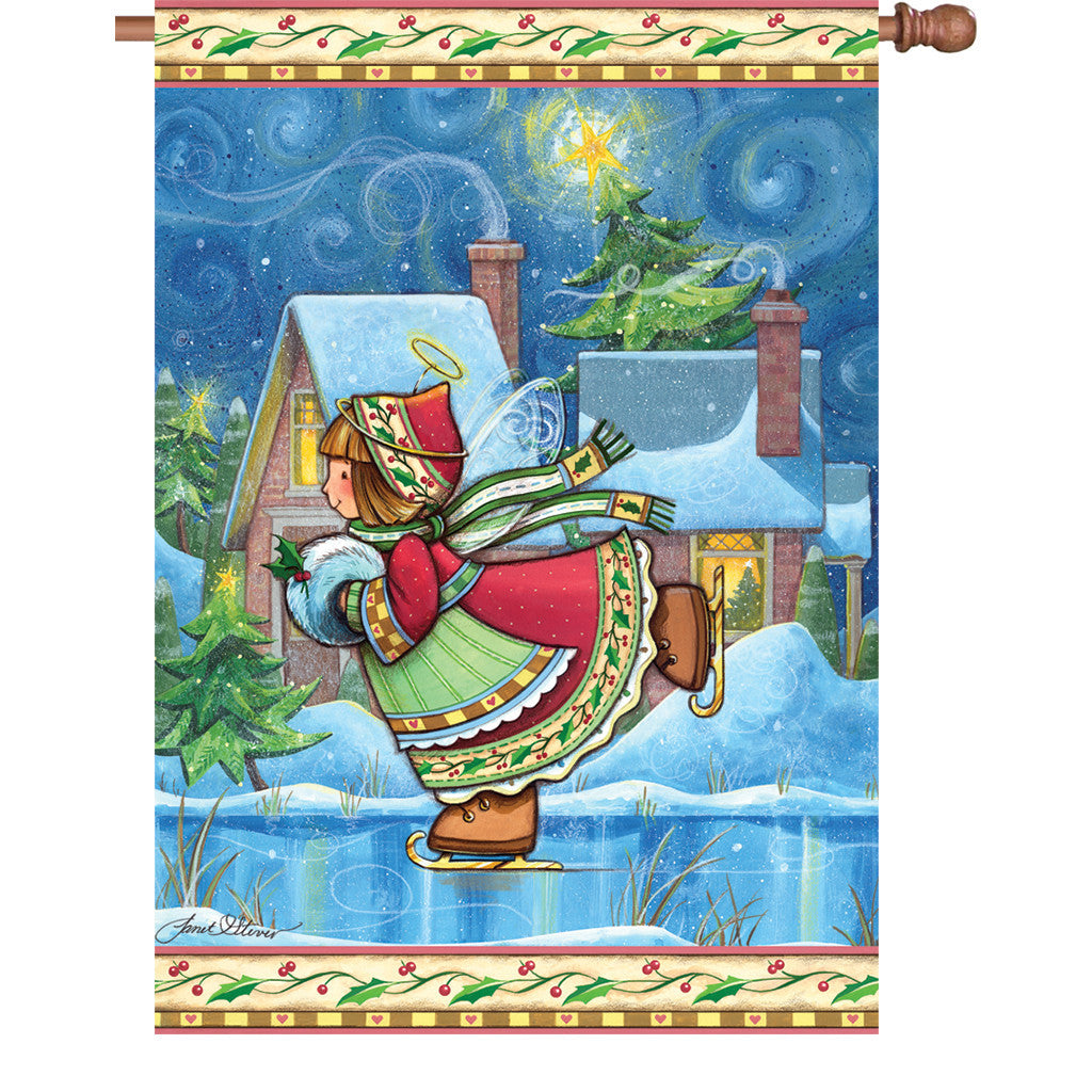 28 in. Christmas House Flag - Winter Wonder Angel