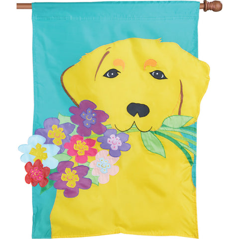 Dog Applique Flag - Golden Retriever