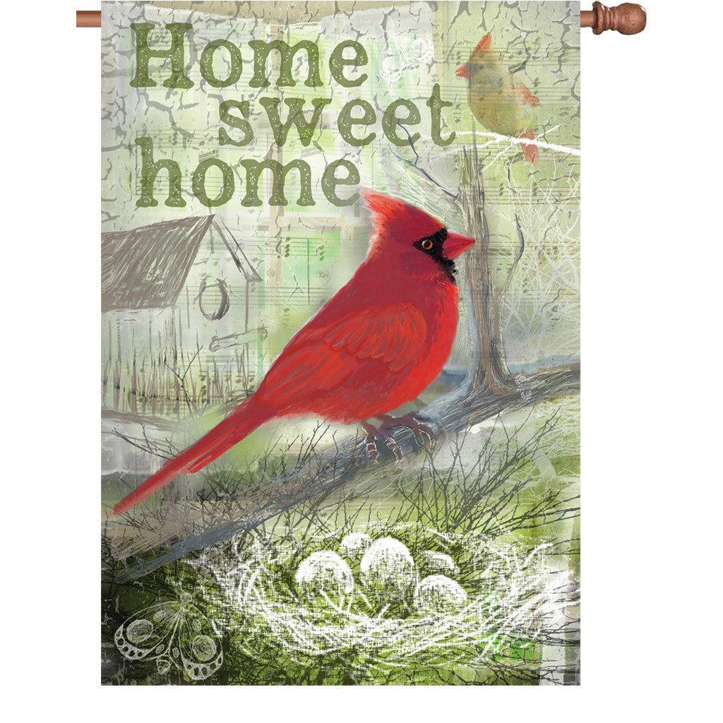 28 in. Vintage House Flag - Home Sweet Home
