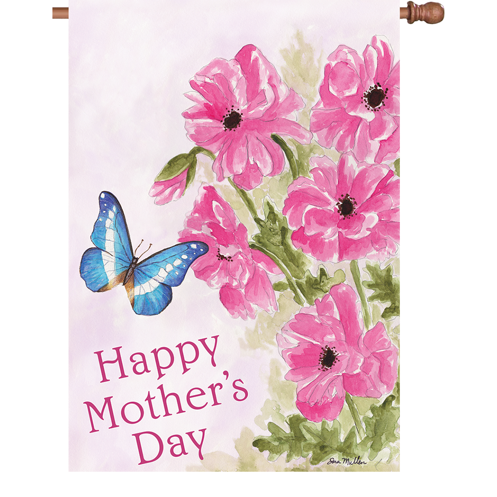 28 in. Mother's Day House Flag - Mother's Day Bouquet