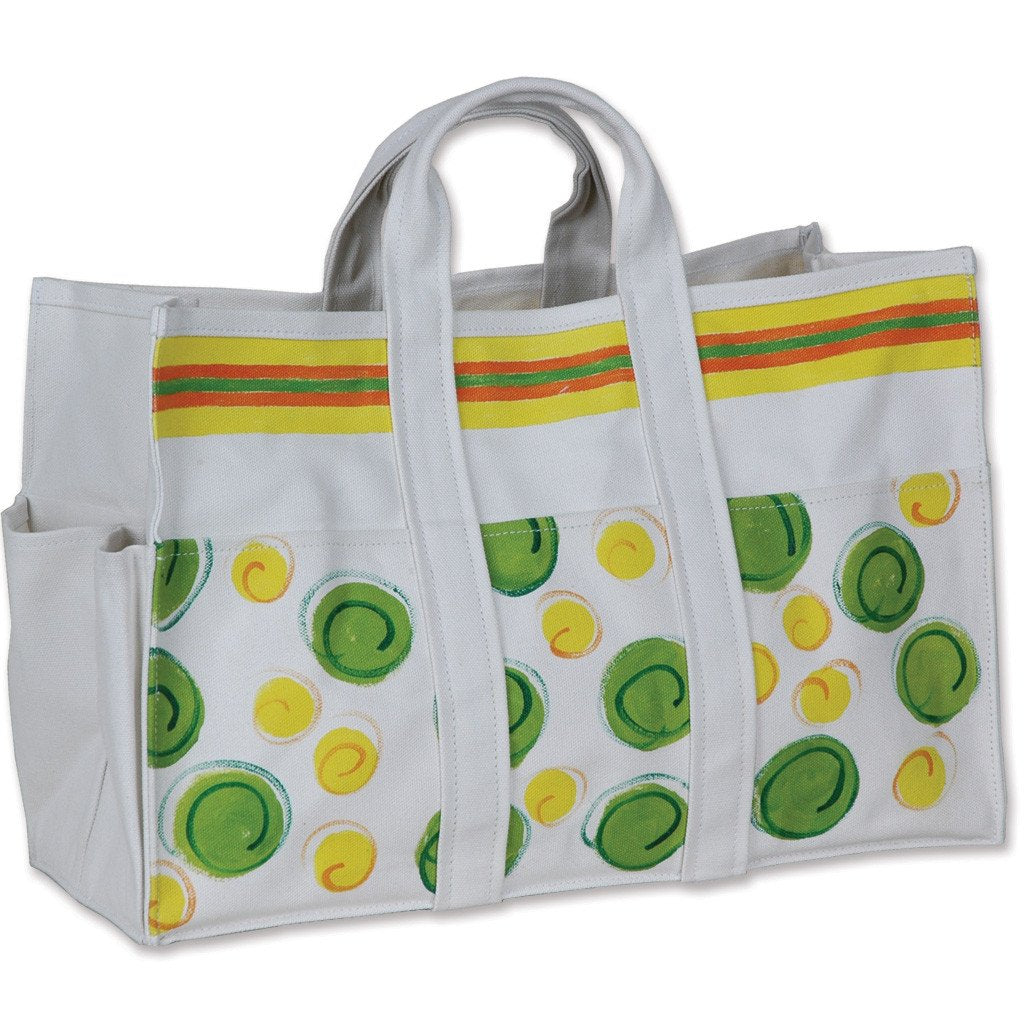 Canvas Tote Bag & Gloves - Summer Dot