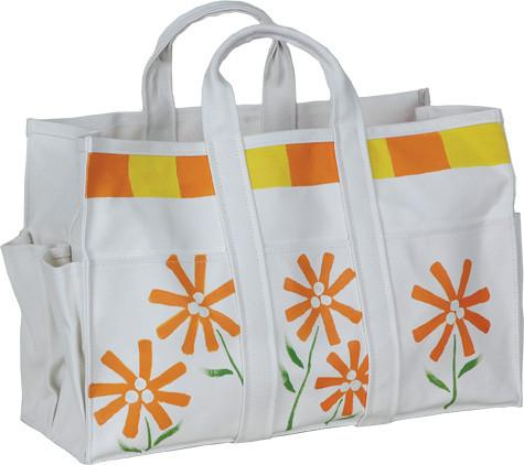 Canvas Tote Bag & Gloves - Daisies