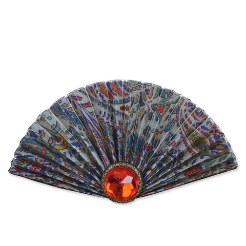 Red/Silver/Blue Fan Brooch