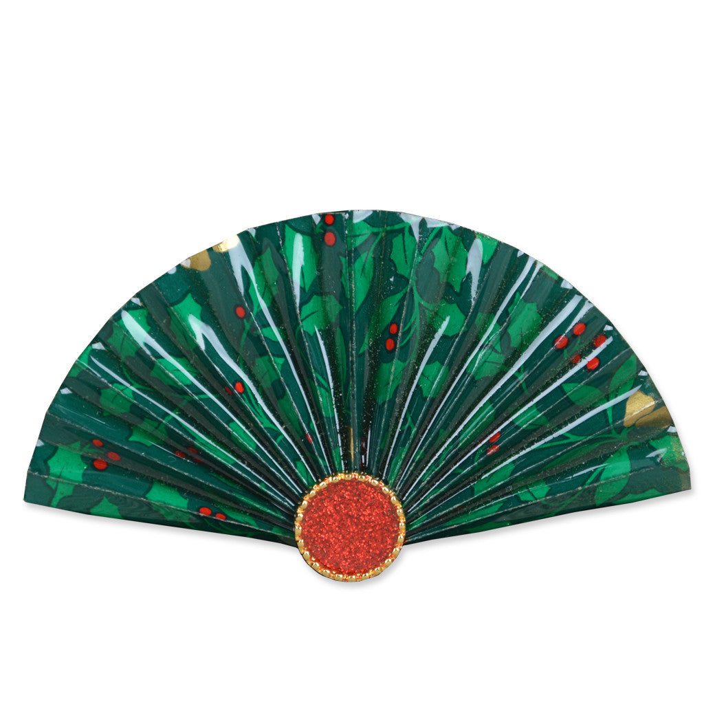 Christmas Fan Brooch