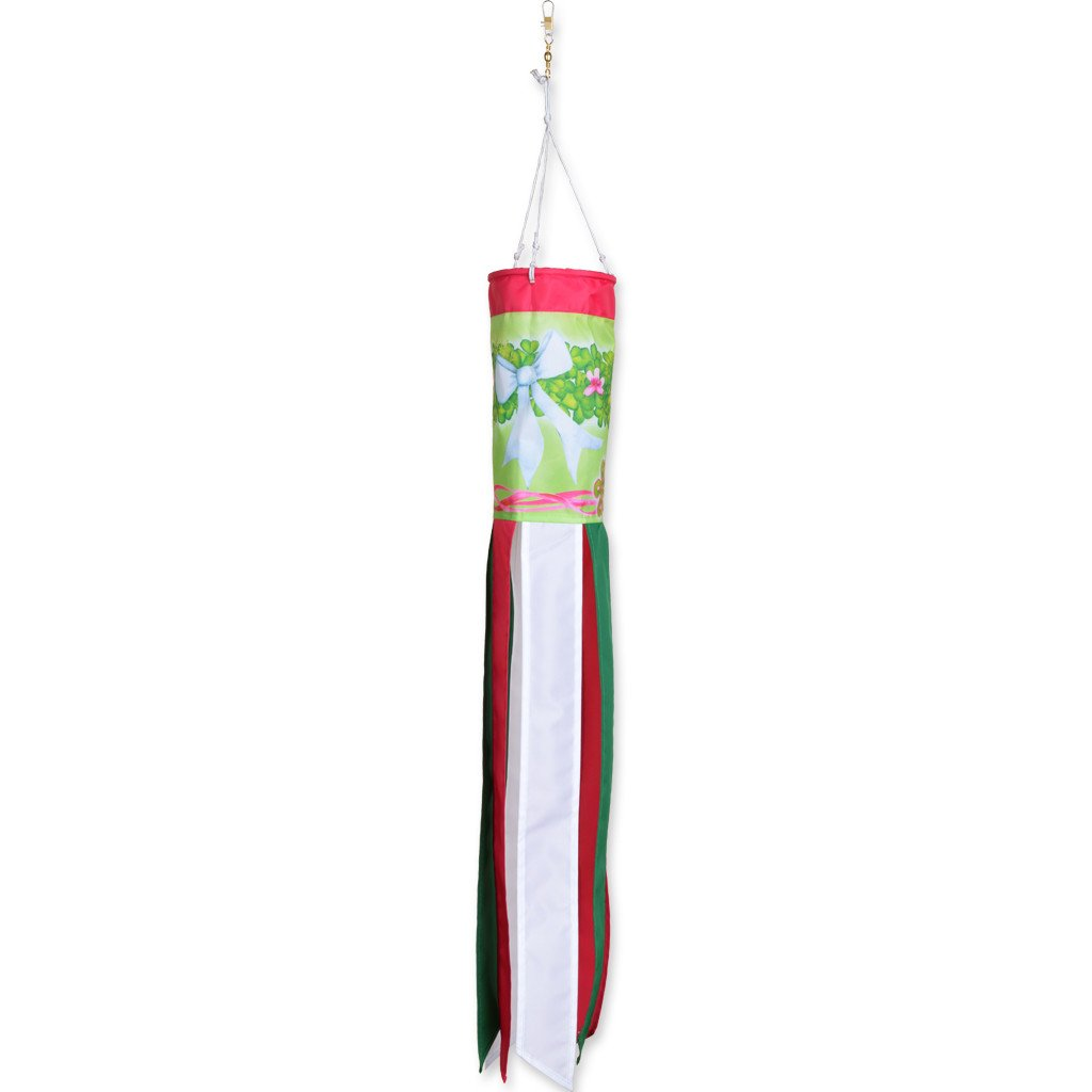28 in. Windsock - Shamrock Wreath