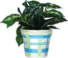 Flower Pot Cover - Cool Plaids