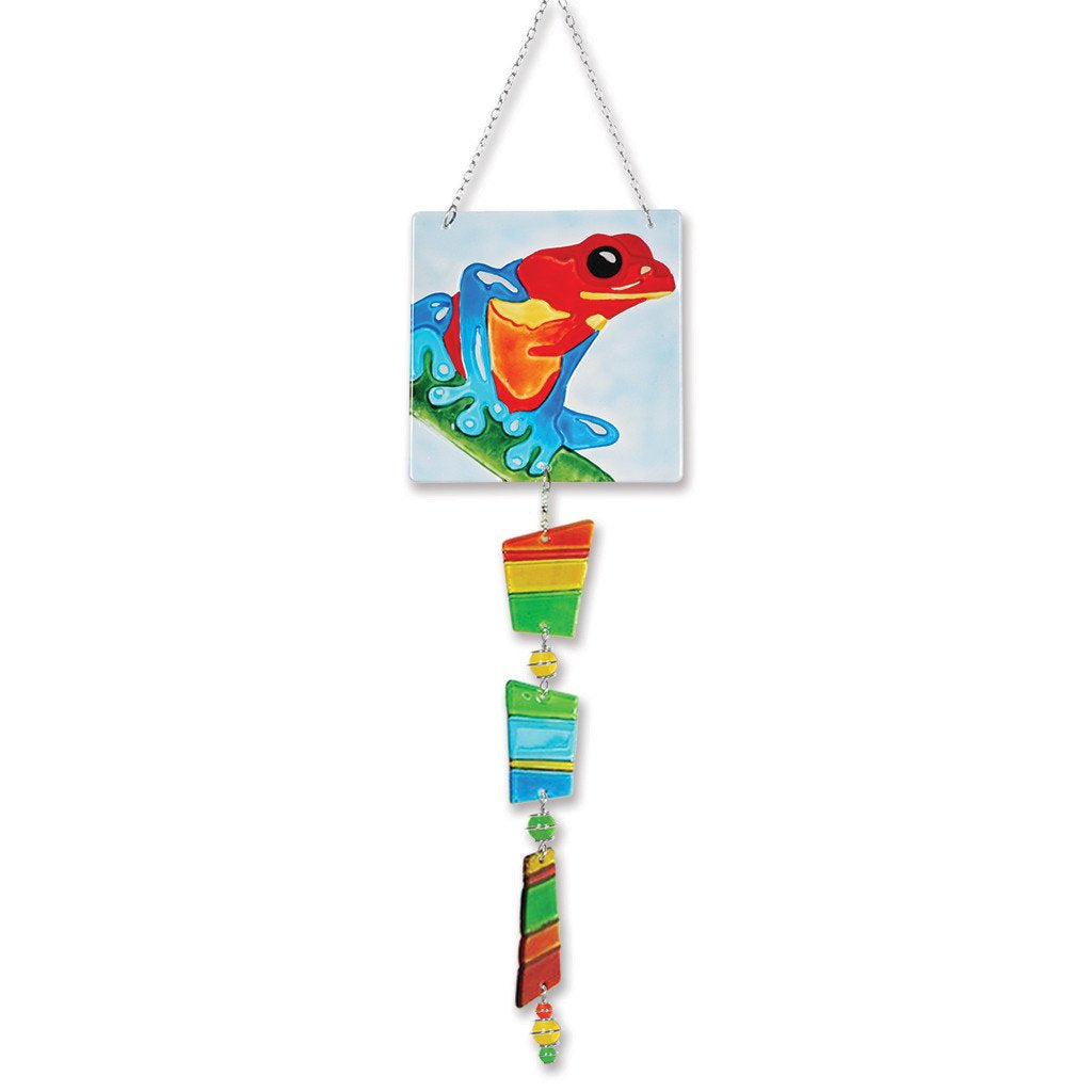Glass Sun Catcher Mobile - Poison Dart Frog