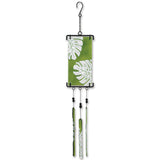 Silhouette Glass Wind Chime - Banana Leaf