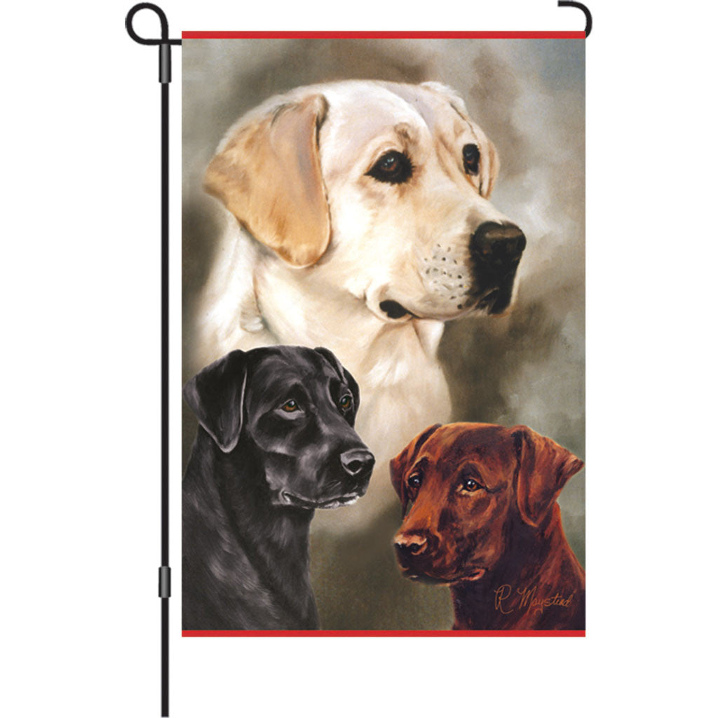12 in. Dog Garden Flag - Labradors