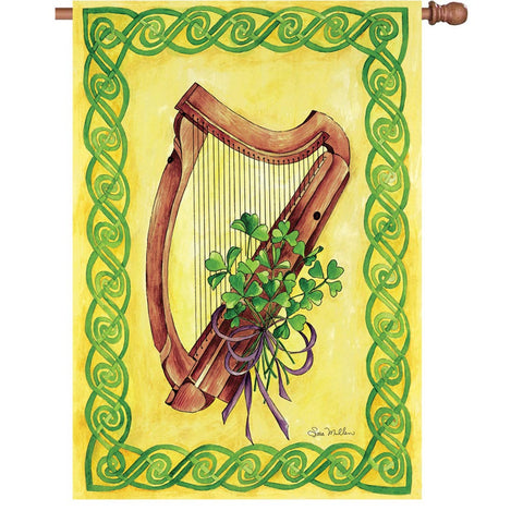 28 in. St. Patrick's Day House Flag -  Celtic Harmony