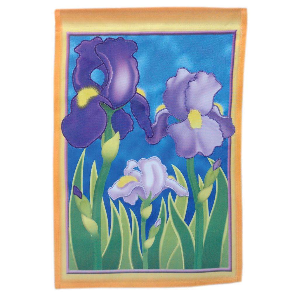 12 in. Flower Garden Flag - Enchanting Irises
