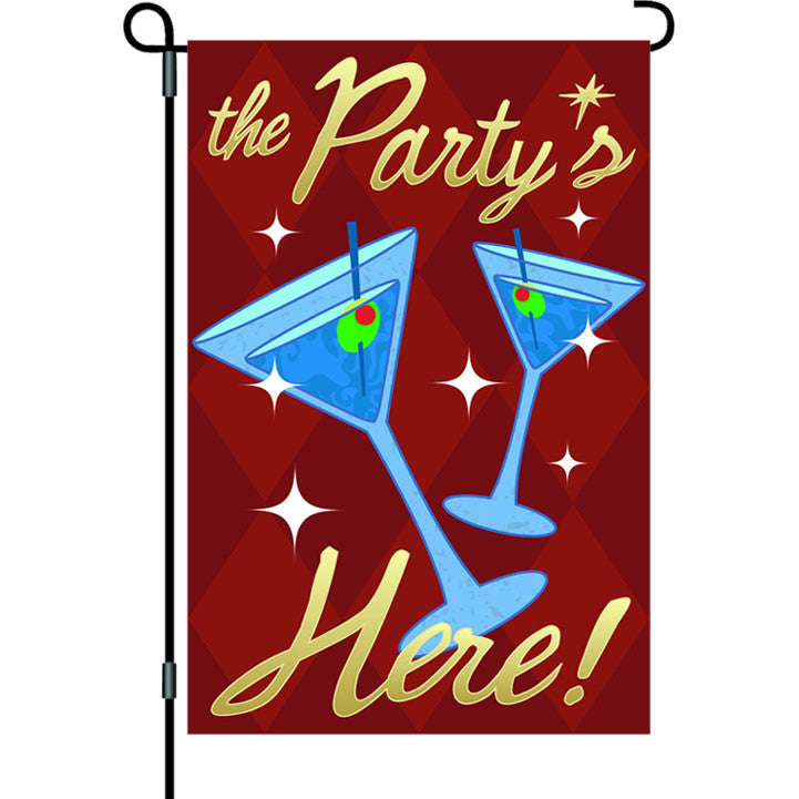 12 in. Celebration Garden Flag - The Party's Here